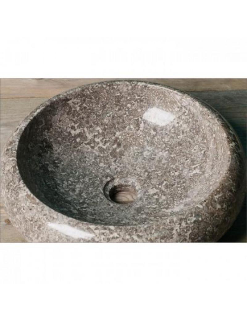 Раковина из мрамора Donut Grey Kecil