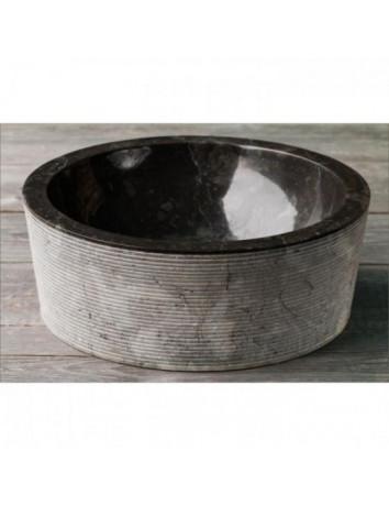 Раковина из мрамора Drum Alur Black